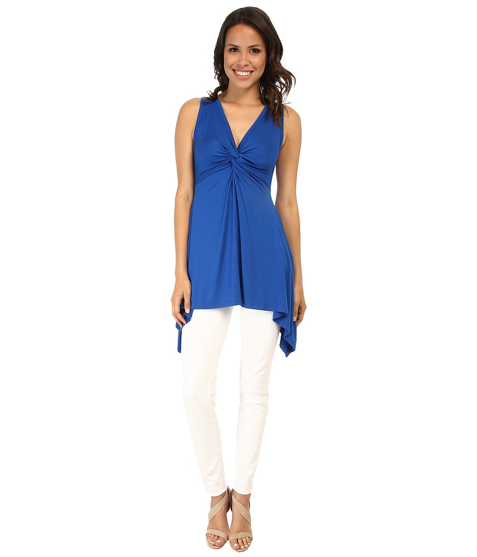 Karen Kane - Twist Front Tank Top (Royal) Women's Sleeveless