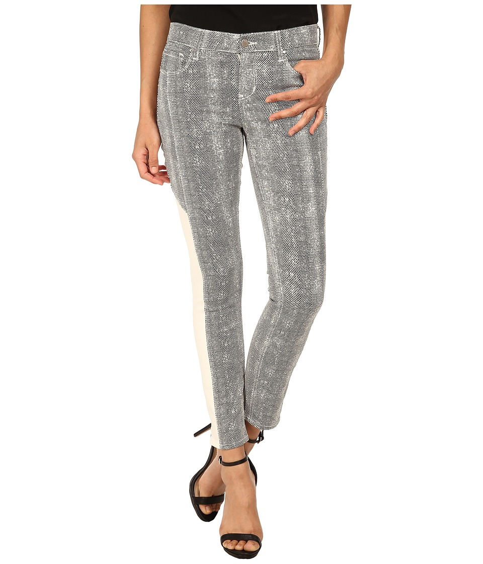 DKNY Jeans - Mesh Print Ave B Ultra Skinny Crop in White (White) Women's Jeans