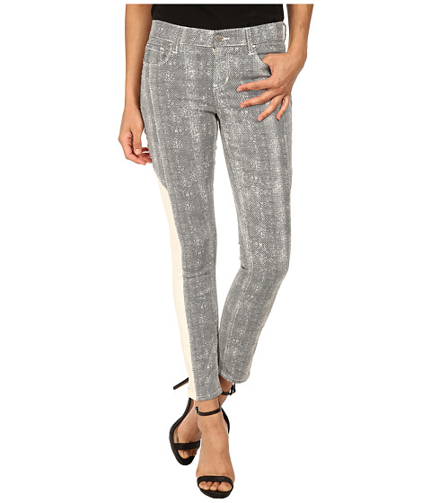 DKNY Jeans - Mesh Print Ave B Ultra Skinny Crop in White (White) Women