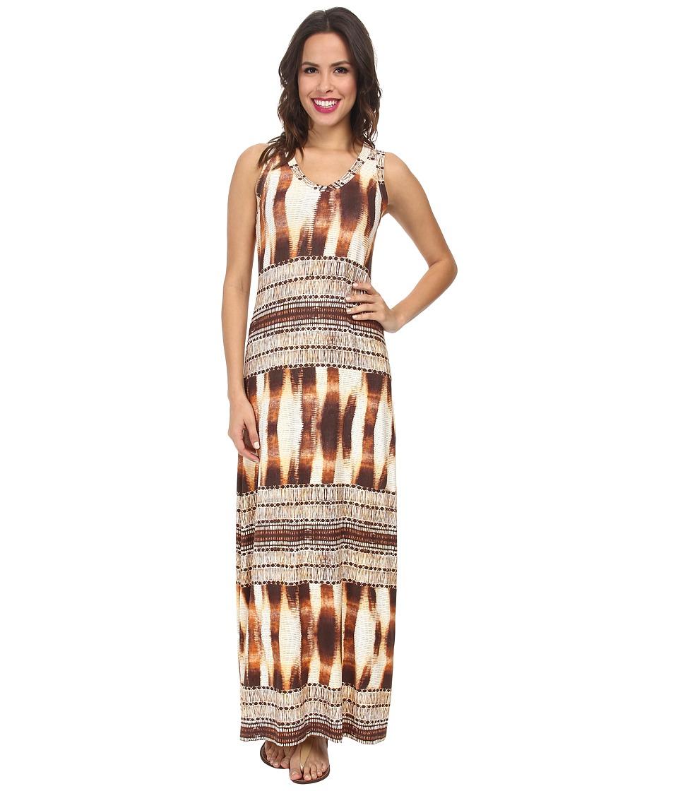Karen Kane - Desert Stripe Maxi Dress (Print) Women