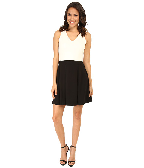 Karen Kane - Classic Two-Tone Dress (Off White/Black) Women