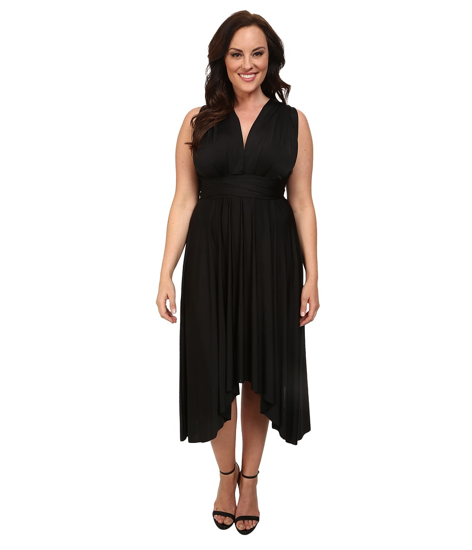 Alejandra Sky - Plus Size Juissa Maxi Dress (Black) Women's Dress