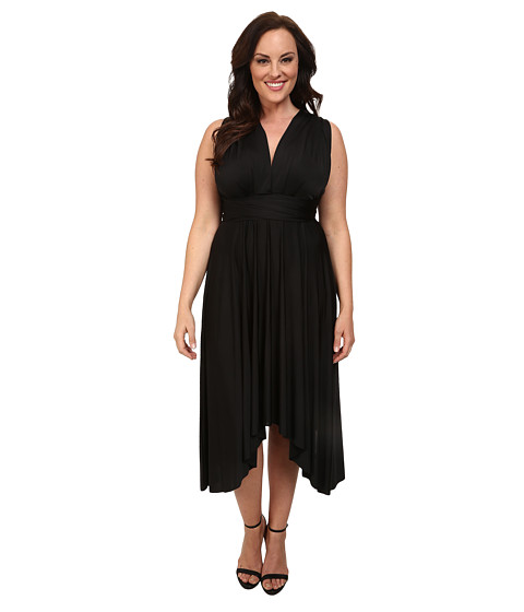 Alejandra Sky - Plus Size Juissa Maxi Dress (Black) Women