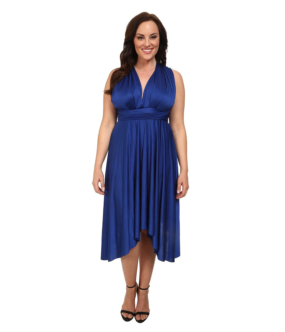 Alejandra Sky - Plus Size Juissa Maxi Dress (Royal) Women's Dress
