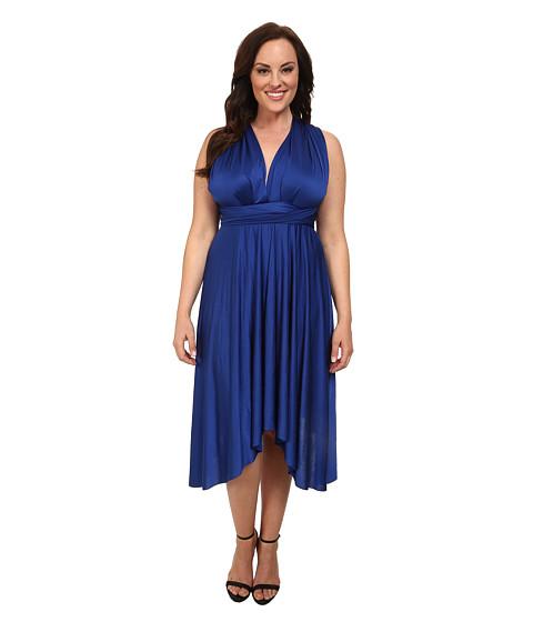 Alejandra Sky - Plus Size Juissa Maxi Dress (Royal) Women