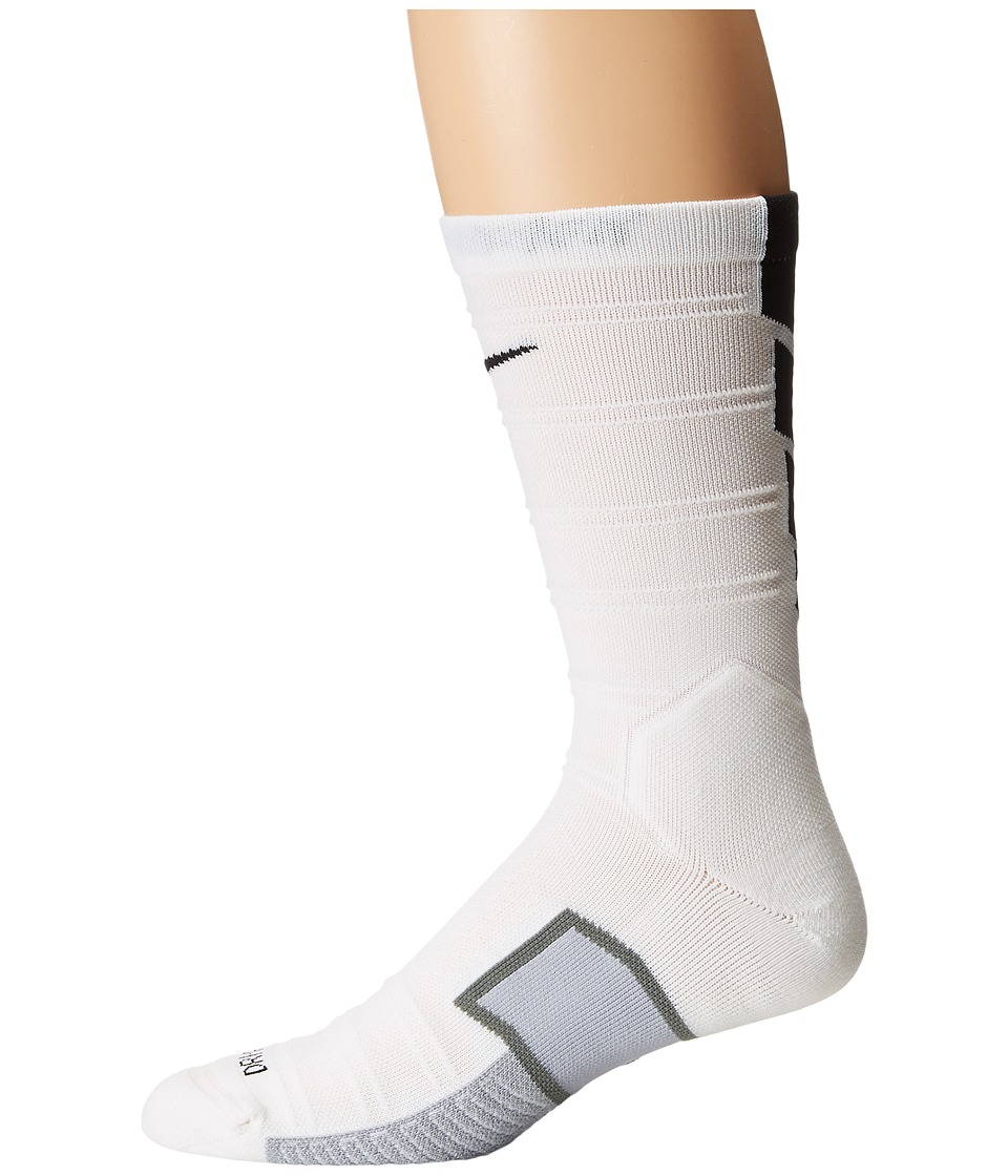 Nike - Matchfit Elite Mercurial (White/White/Black) Crew Cut Socks Shoes
