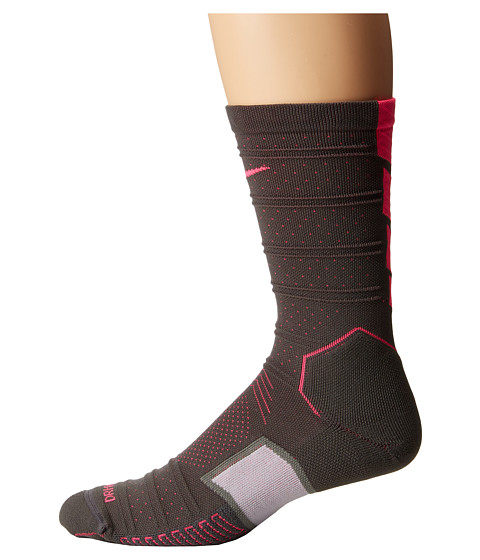 Nike - Matchfit Elite Mercurial (Dark Grey/Hyper Pink/Hyper Pink) Crew Cut Socks Shoes