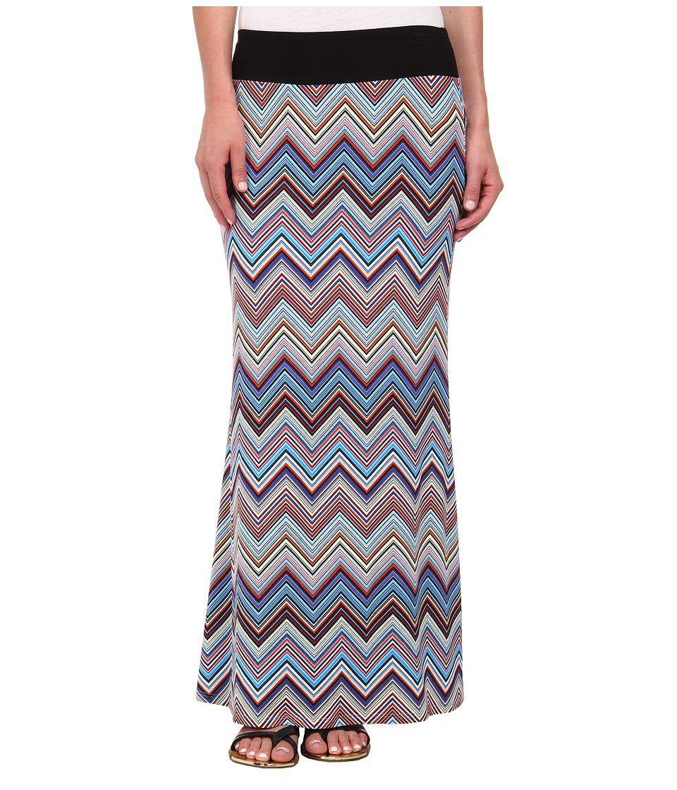 Karen Kane - Miami Zig Zag Maxi Skirt (Multicolor) Women's Skirt