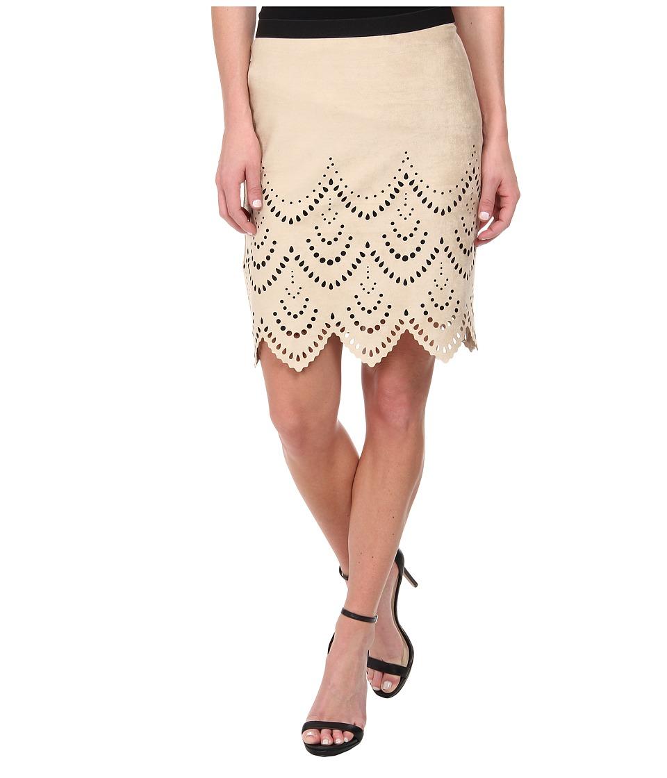Karen Kane - Riviera Faux Suede Skirt (Khaki) Women
