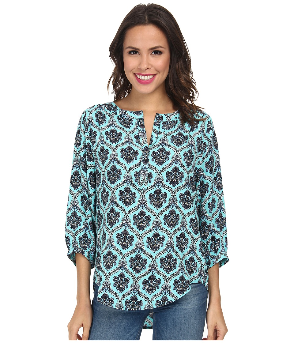 Karen Kane - Split Placket Top (Paisley) Women's Long Sleeve Pullover