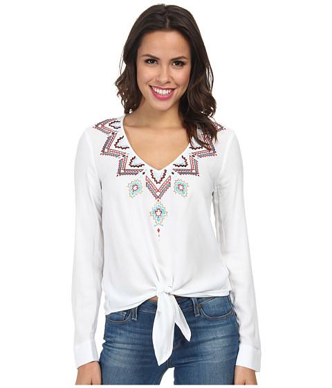 Karen Kane - Sonora Embroidered Tie Top (Off White) Women
