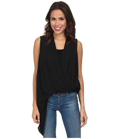 Karen Kane - Asymmetrical Hem Tank Top (Black) Women