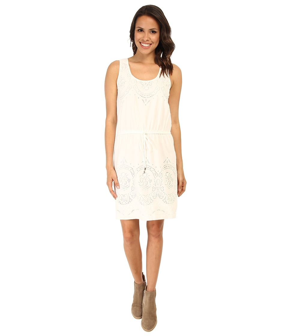 Karen Kane Eyelet Border Dress (Off White) Women