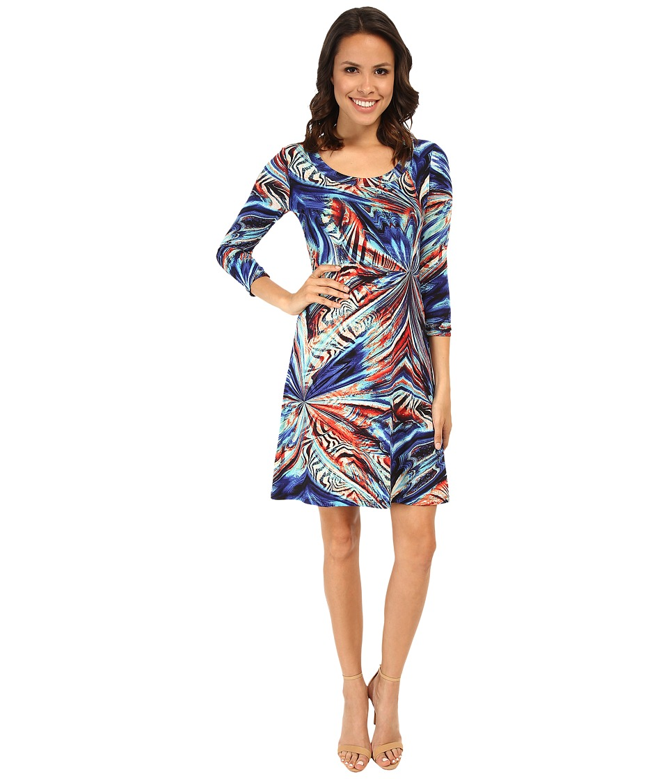 Karen Kane - Miami Mirage T-Shirt Dress (Multicolor) Women's Dress