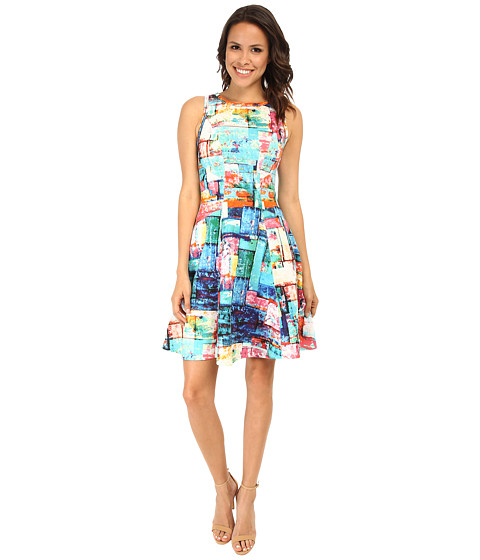 Karen Kane - Full Spectrum Scuba Dress (Print) Women's Dress