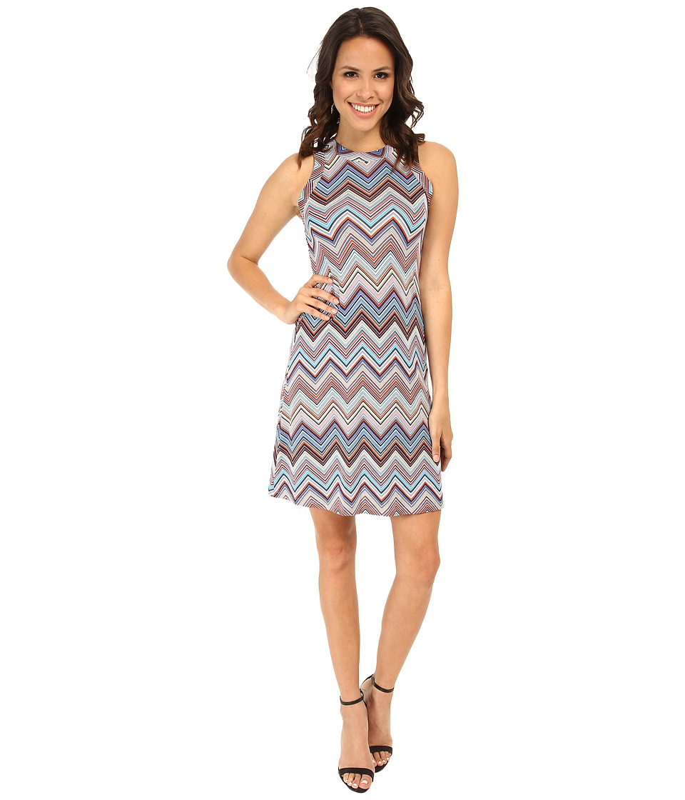 Karen Kane - Miami Zig Zag Halter Dress (Multicolor) Women's Dress