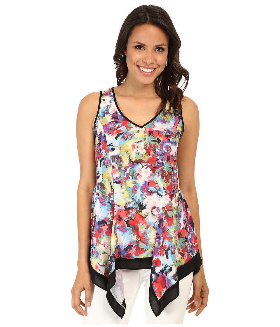 Karen Kane - Floral Technicolor Tank Top (Print) Women's Sleeveless