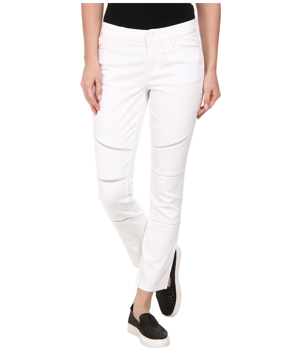 DKNY Jeans - Ladder Lace Ave B Ultra Skinny Crop Moto in White (White) Women's Jeans