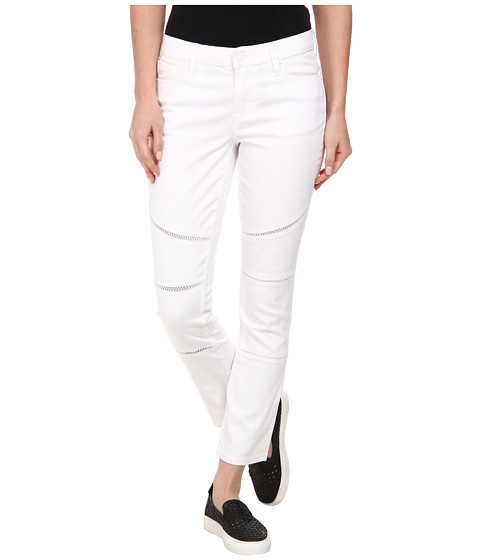 DKNY Jeans - Ladder Lace Ave B Ultra Skinny Crop Moto in White (White) Women