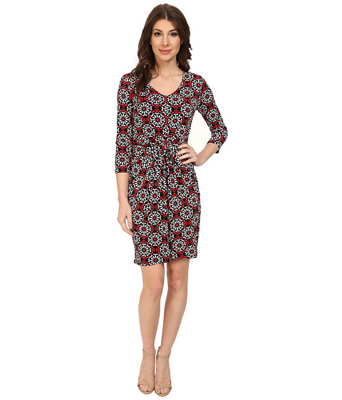 Karen Kane - Floral Medallion Tiffany Dress (Print) Women's Dress