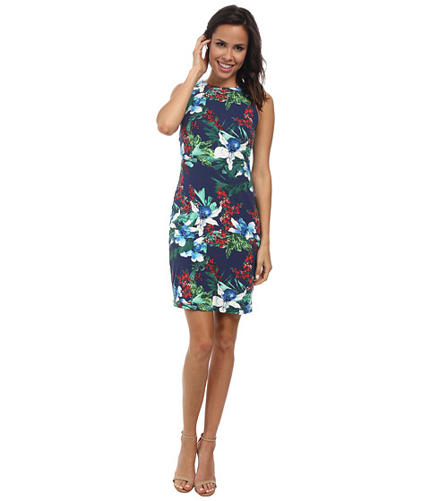 Karen Kane - Island Floral Bodycon Dress (Print) Women