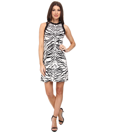 Karen Kane - Zebra Short Dress (Print) Women