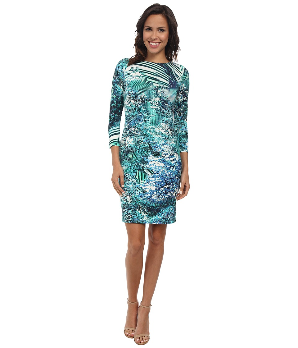 Karen Kane - Palmilla Print Bodycon Dress (Print) Women's Dress
