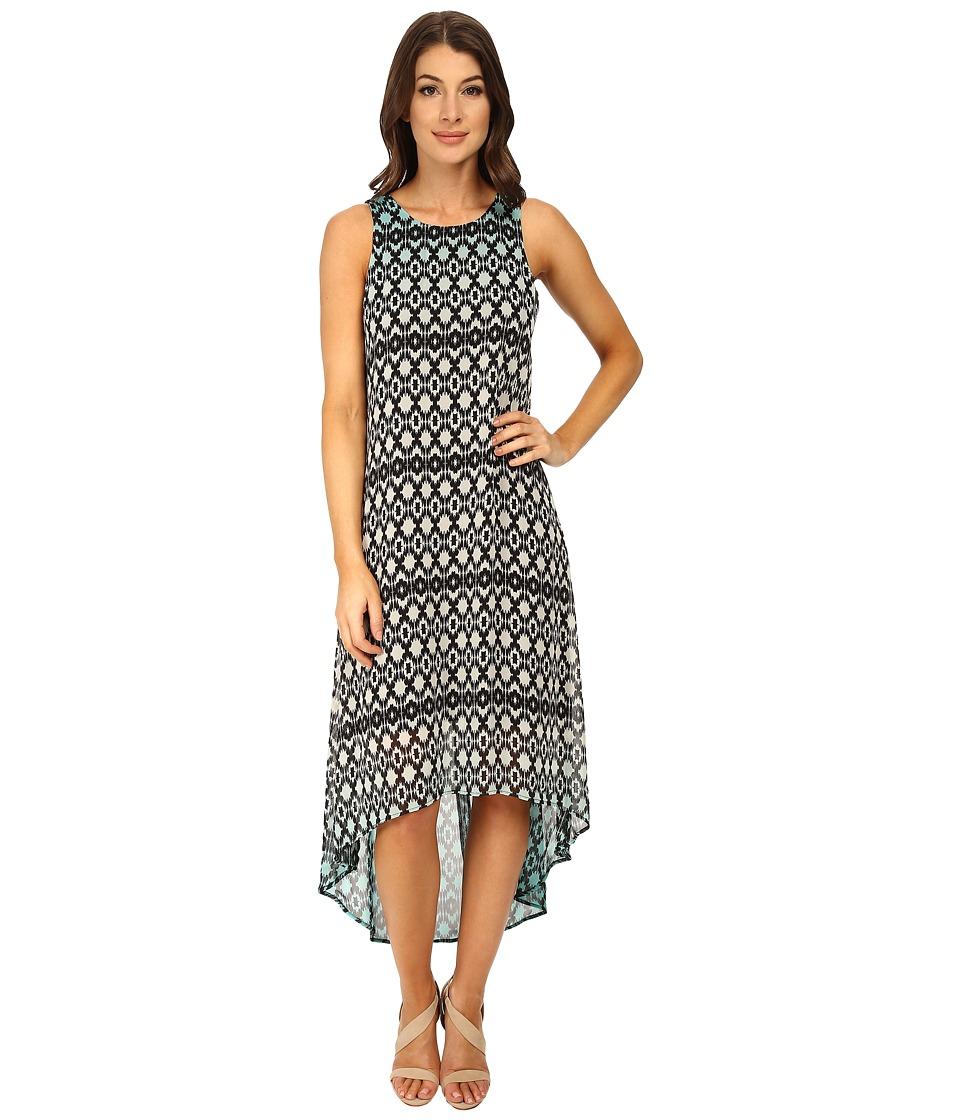 Karen Kane - Dip Dye Hi-Lo Hem Dress (Green) Women's Dress