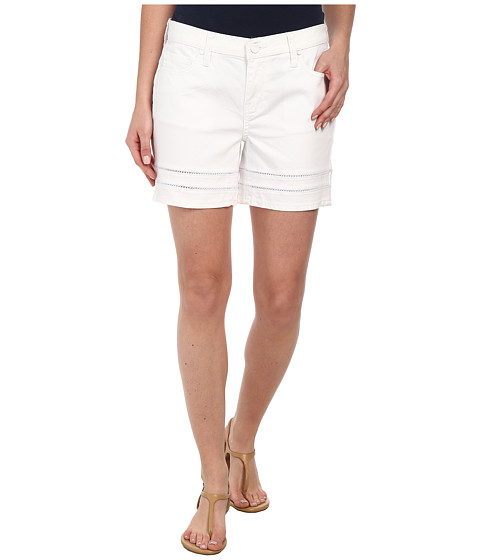 DKNY Jeans - Ladder Lace Denim Moto Shorts in White (White) Women's Shorts