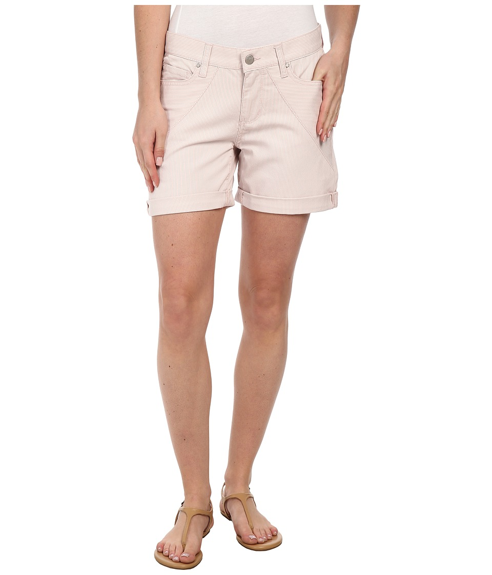 DKNY Jeans - Stripe Rolled Shorts in Soft Blush (Soft Blush) Women's Shorts