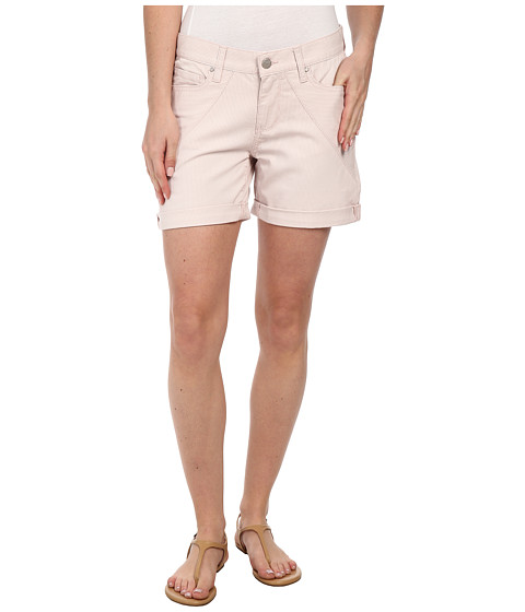 DKNY Jeans - Stripe Rolled Shorts in Soft Blush (Soft Blush) Women