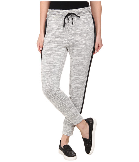 DKNY Jeans - Textured Terry Mesh Trim Pants in Polar Cream (Polar Cream) Women