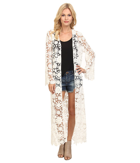 Nightcap - Caribbean Crochet Robe (White) Women's Robe