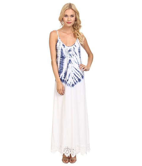 Nightcap - Jersey Crochet Maxi (Navy/White) Women's Dress