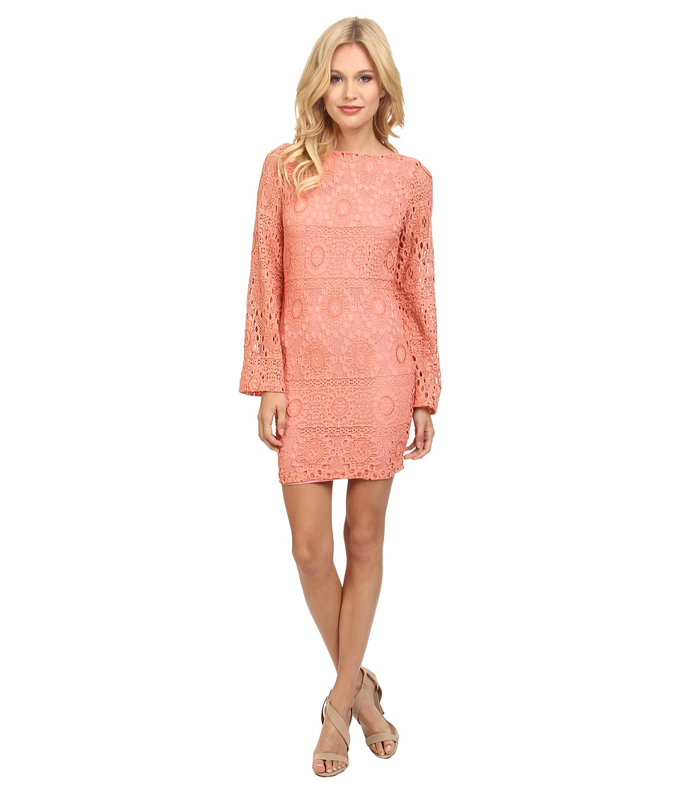 Nightcap - Cherry Blossom Priscilla Dress (Vintage Coral) Women's Dress