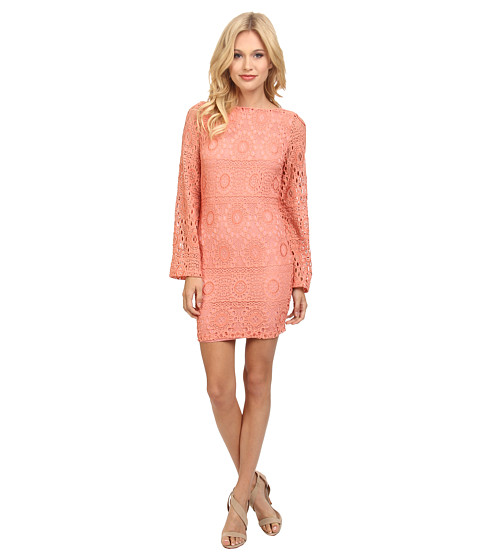 Nightcap - Cherry Blossom Priscilla Dress (Vintage Coral) Women