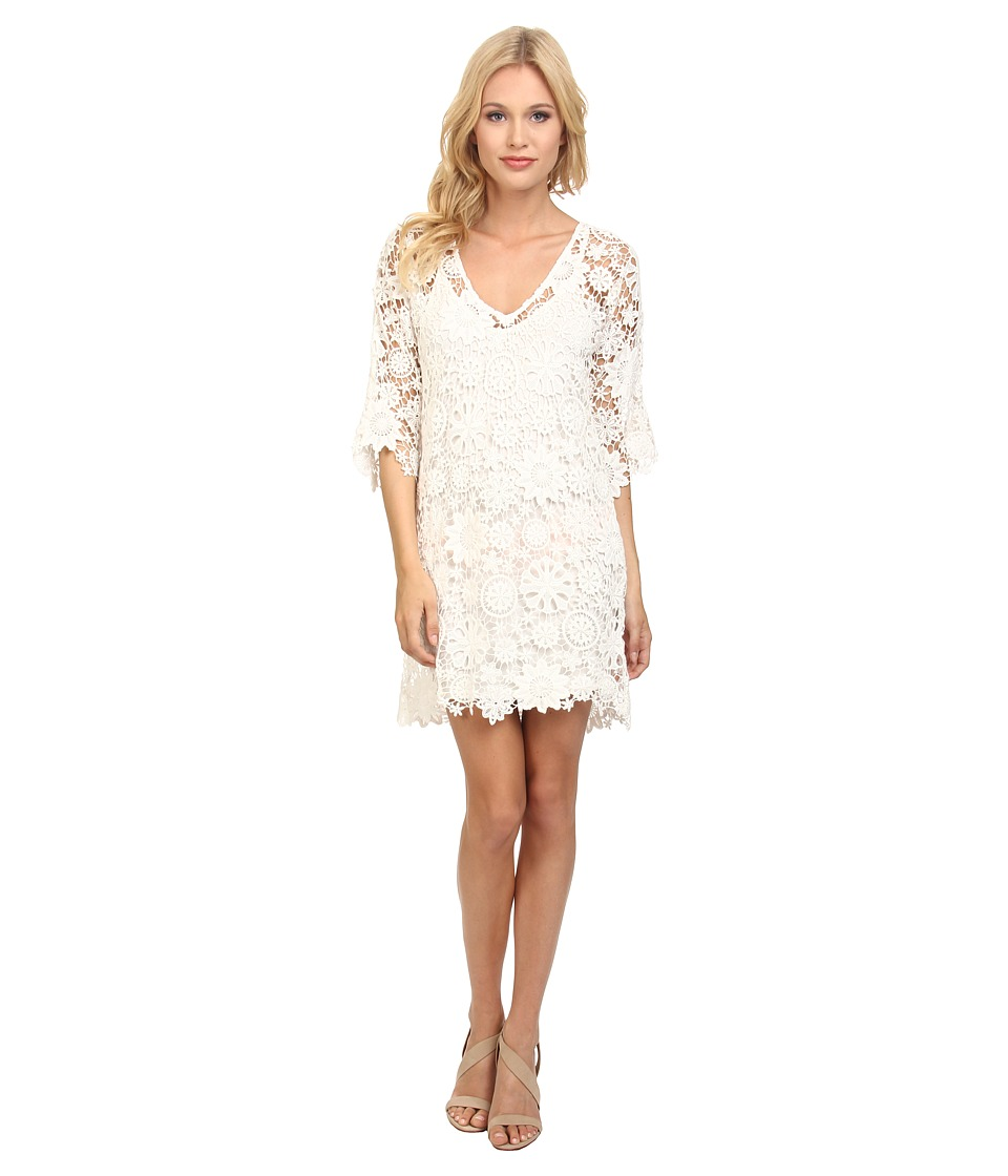 Nightcap - Caribbean Crochet Cover w/ Slip (White) Women's Dress