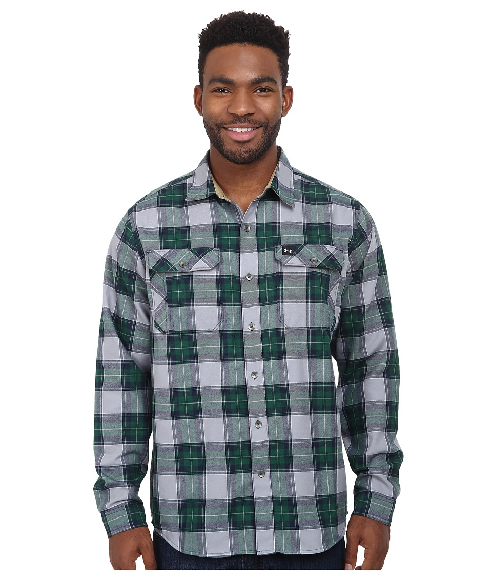 Under Armour - Borderland Flannel (Pine) Men's Clothing