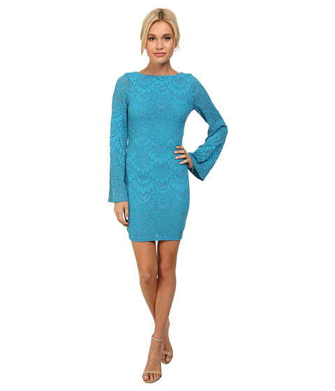 Nightcap - Spanish Priscilla Dress (Turquoise) Women