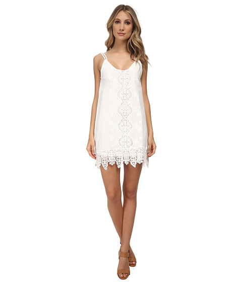 Nightcap - Embroidered Tank Dress w/ Slip (White) Women's Dress