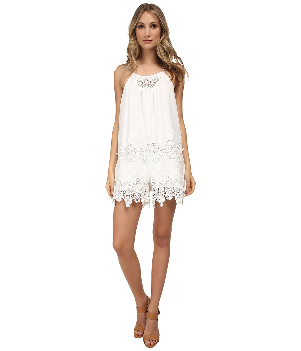 Nightcap - Embroidered Cute Suit (White) Women's Jumpsuit & Rompers One Piece