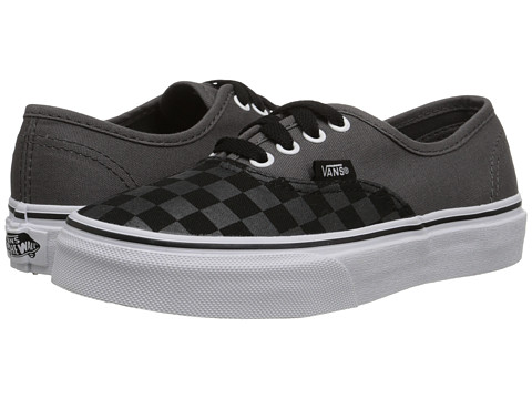 Vans Kids - Authentic (Little Kid/Big Kid) ((Tonal Checker) Pewter/Black) Boys Shoes