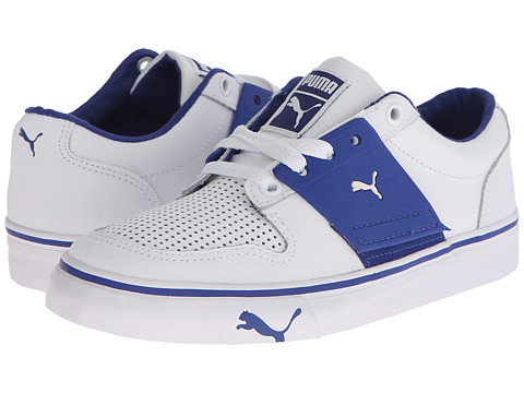 Puma Kids - El Ace 2 Jr (Little Kid/Big Kid) (White/Surf The Web) Boys Shoes