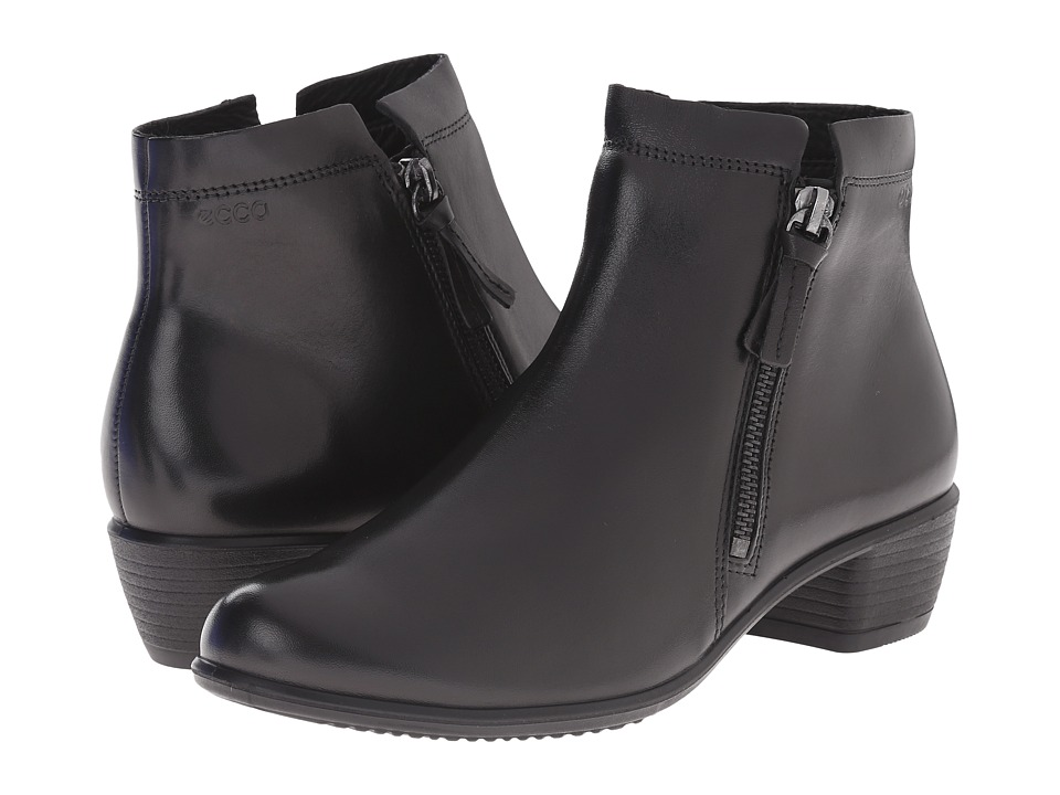 ECCO - Touch 35 Zip Bootie (Black) Women's Boots