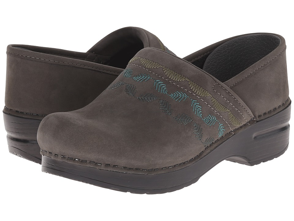Dansko Embroidered Pro (Grey Nubuck) Women
