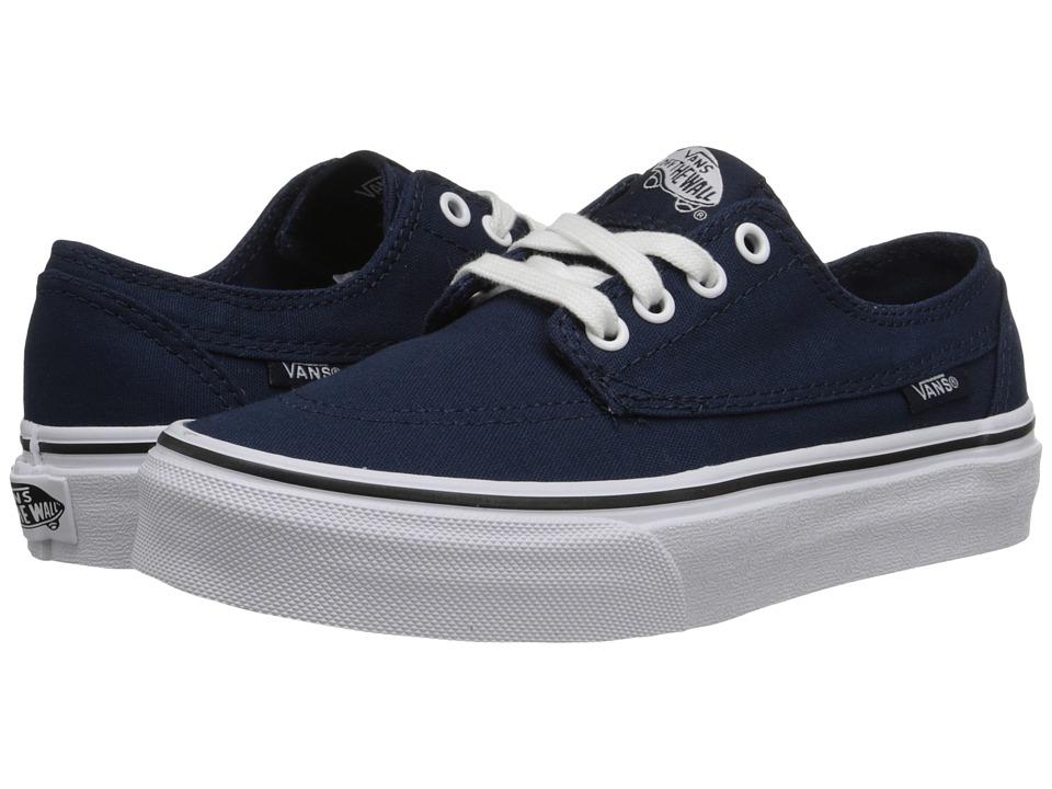 Vans Kids - Brigata (Little Kid/Big Kid) (Dress Blues/True White) Boys Shoes
