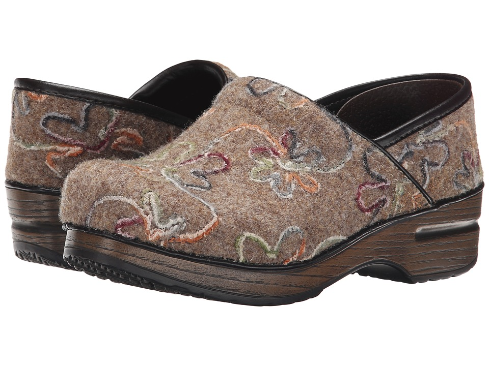 Dansko - Felt Pro (Oatmeal Floral) Women's Clog Shoes