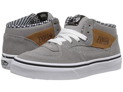Vans Kids - Half Cab (Little Kid/Big Kid) ((6 Oz. Canvas) Frost Gray) Boys Shoes