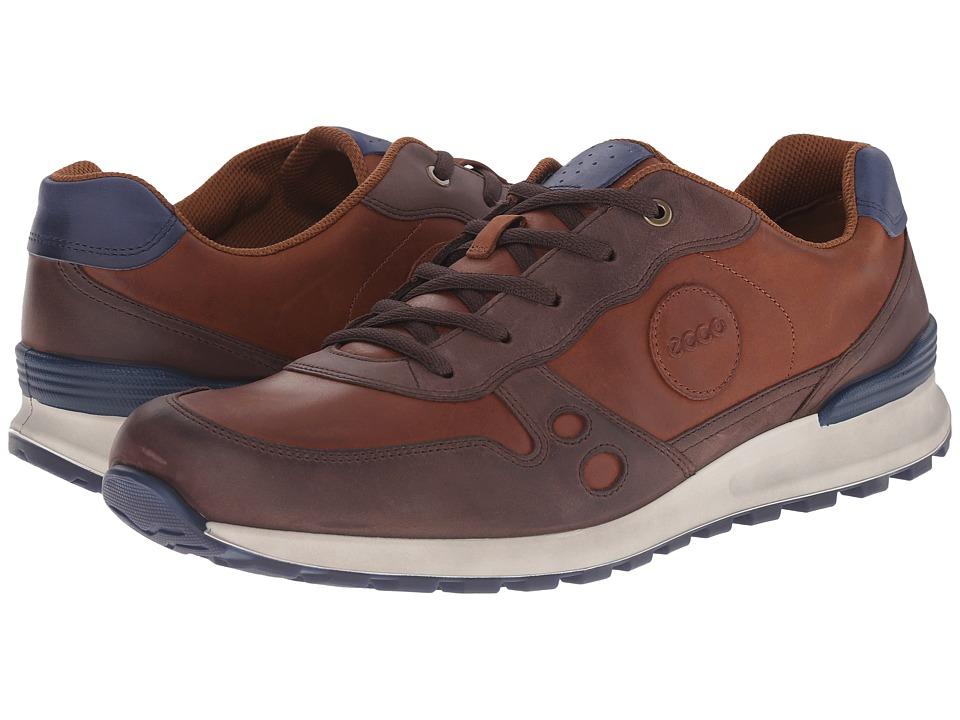 ECCO CS14 Casual Sneaker Mocha-Mahogany Mens Lace up casual Shoes