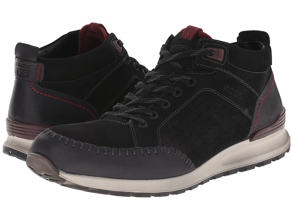 ECCO CS14 Retro Boot (Black/Black/Bordeaux) Men